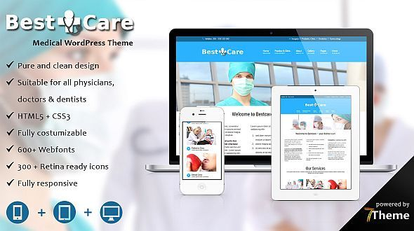 Bestcare – a WordPress Theme for Clinics, Doctors and Physicians