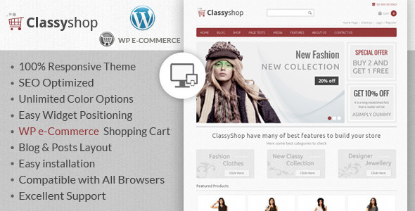 ClassyShop – WordPress E-Commerce Theme