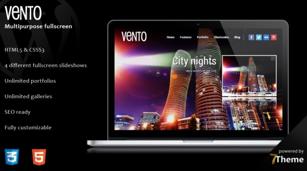 Vento is a premium full-screen WordPress Theme