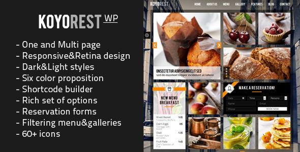 Koyorest – Responsive Retina WordPress Theme