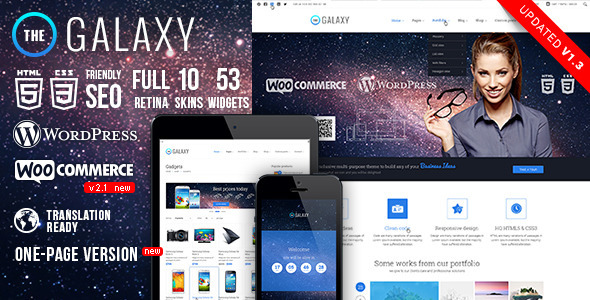 The Galaxy WP – Responsive Multi-Purpose Theme