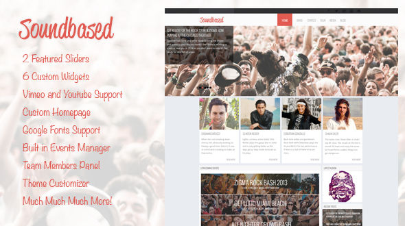 SoundBased – WordPress Music Theme