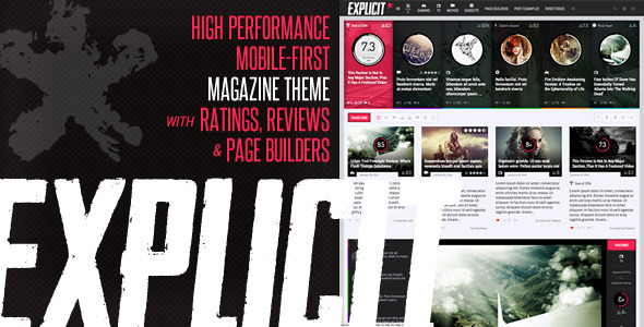 Explicit – High Performance Review/Magazine Theme
