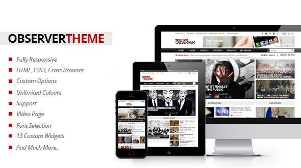 Observer – Multipurpose News/Magazine Theme