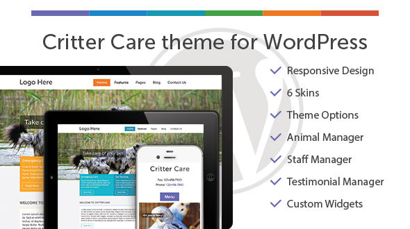 Critter Care Responsive Theme for WordPress