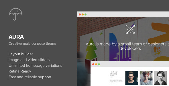 Aura – One Page Creative Multi-Purpose WP Theme