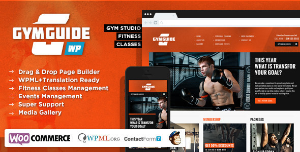 Gym Guide – Fitness Sport WordPress Theme