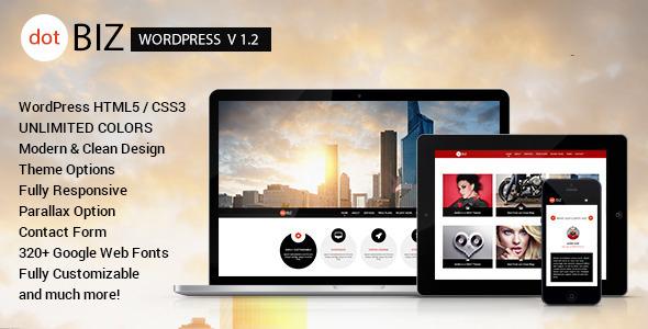 dotBIZ – WordPress Responsive OnePage Parallax