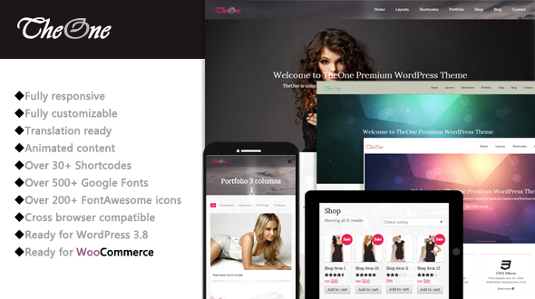 TheOne – Responsive Multipurpose WordPress Theme