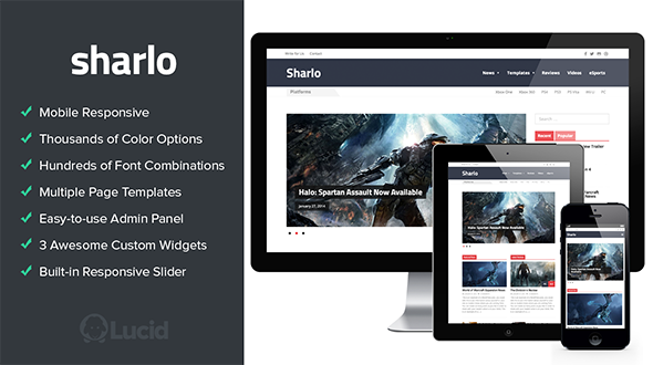 Sharlo – Responsive WordPress Magazine Theme