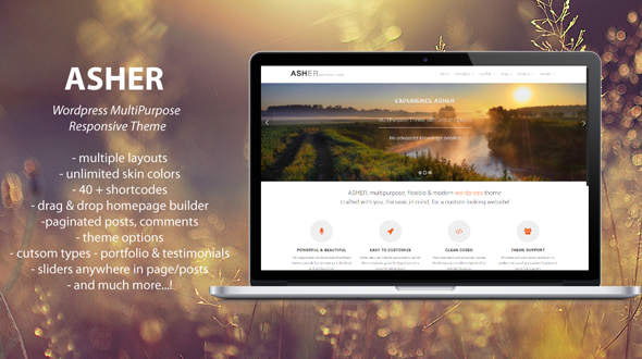 Asher – MultiPurpose WordPress Theme