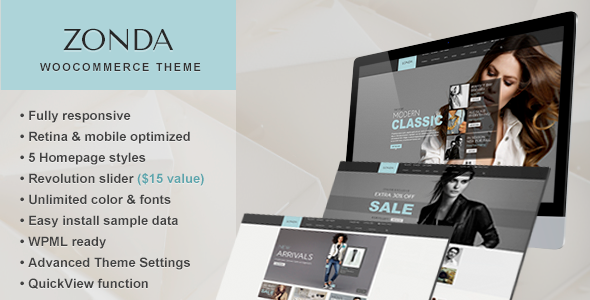 Zonda – Ultimate Responsive Woocommerce Theme