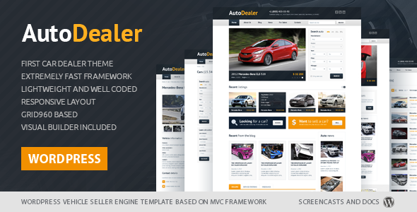 Auto Dealer – Car Dealer WordPress theme