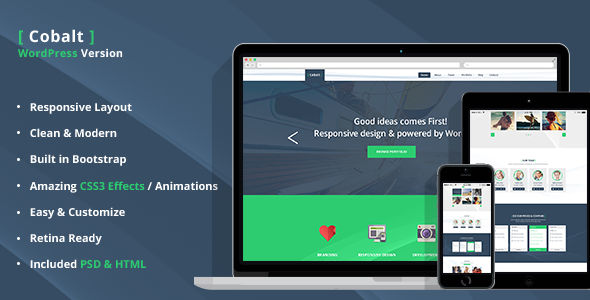 Cobalt – A One and Multi Page Responsive Theme