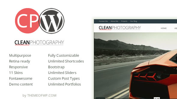 Clean Photography Multipurpose WordPress Theme
