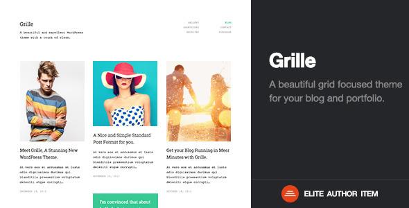 Grille | Retina Responsive Portfolio & Blog Theme