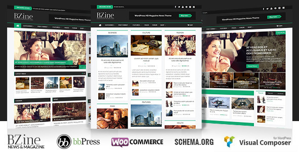 Bzine – WordPress Premium HD Magazine