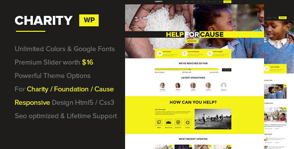 Charity – Foundation/Fundraising WordPress Theme