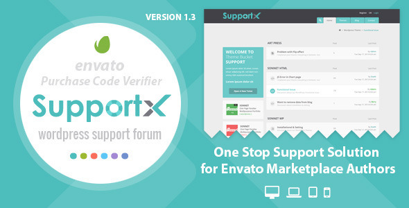 SupportX – Envato API Enabled Support Forum