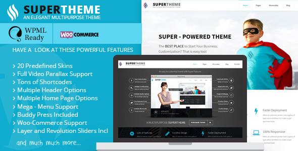 Super – Flat Multi-Purpose Theme