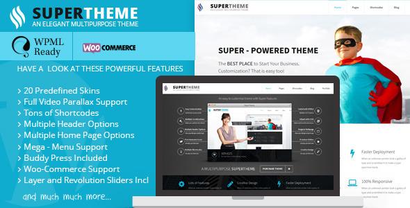 Super – Flat Multi-Purpose Theme