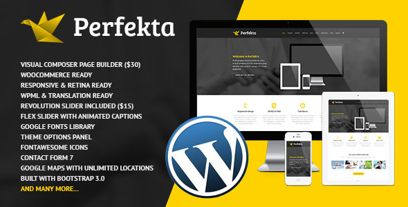 Perfekta – Multipurpose Responsive WordPress Theme