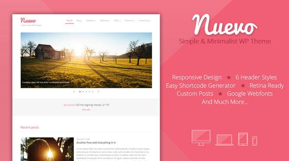 Nuevo – A minimalist WP Theme