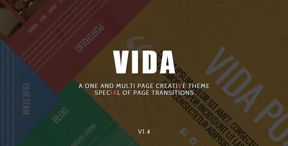 Vida – Responsive Creative WordPress Theme