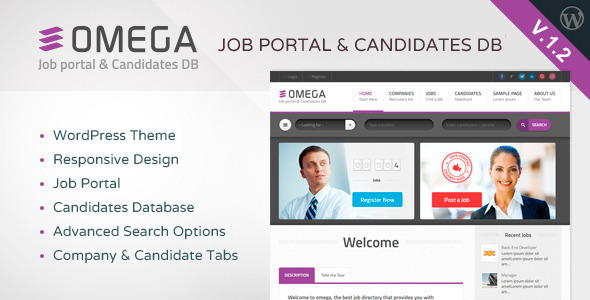 Omega – WordPress Job Portal & Candidate Database