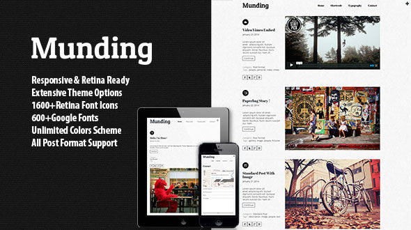 Munding – Minimalist Responsive Blogging Theme