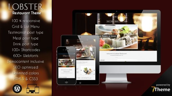 Lobster – responsive WordPress Restaurant Theme