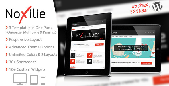 3 in 1 – NoXilie Multipurpose Responsive WordPress