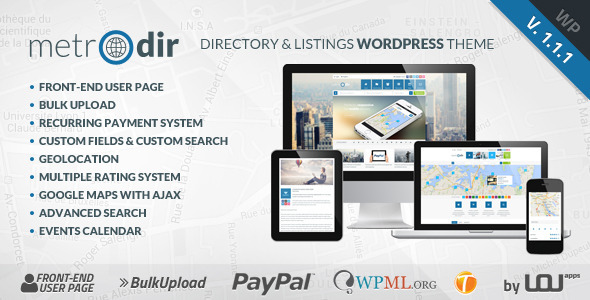 Metrodir – Directory & Listings WordPress Theme