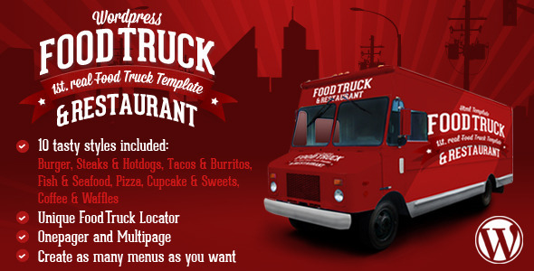 Food Truck & Restaurant 10 Styles – WP Theme