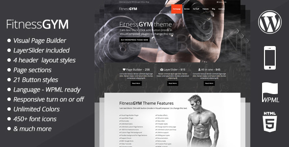FitnessGYM – WordPress Sport Theme