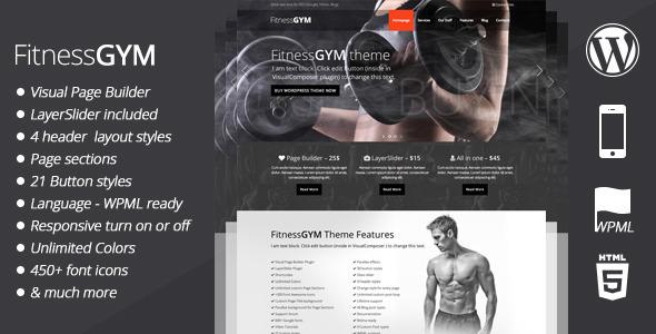 FitnessGYM – WordPress Sport Theme