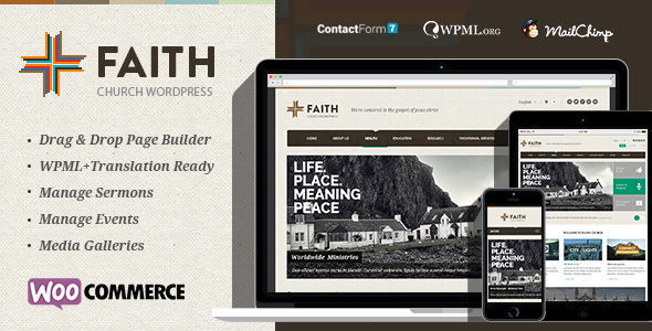Faith – Multi Purpose WordPress Theme