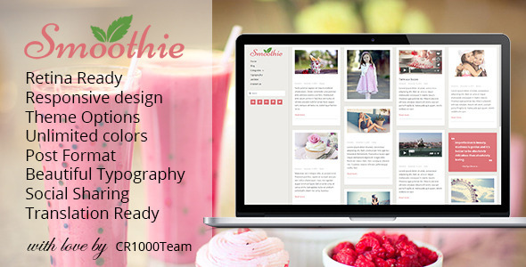 Smoothie – Retina Responsive WordPress Blog Theme