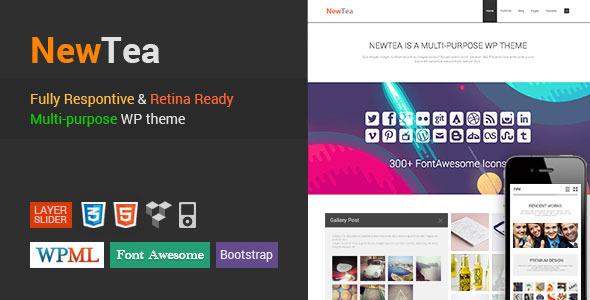 NewTea – Responsive Retina Minimal WordPress Theme