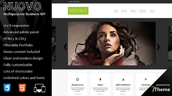 Nuovo – Responsive Business & Portfolio WordPress Theme