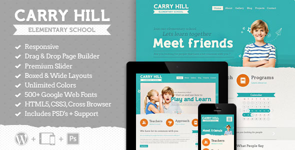 Carry Hill School – Responsive WordPress Theme