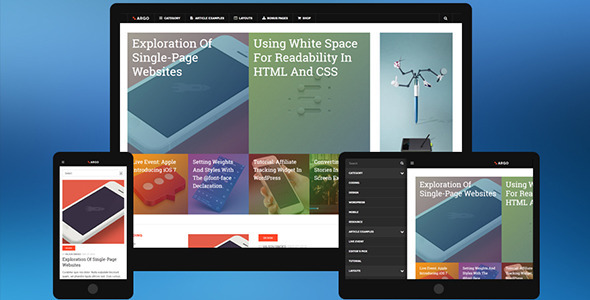 DW ARGO – Responsive WordPress Theme for Magazine