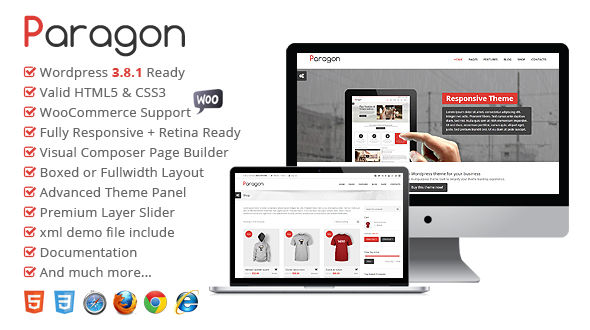 Paragon – Responsive Multipurpose WordPress Theme