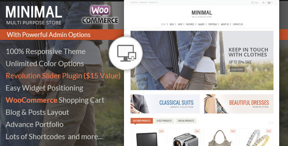 Minimal Multi Purpose – WooCommerce Theme