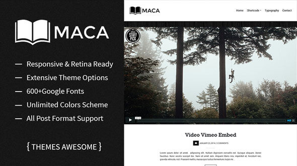 Maca – Responsive Blog WordPress Theme