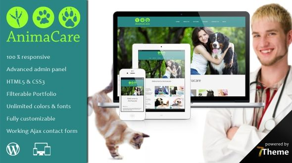 Animacare – a Veterinarian WordPress Theme