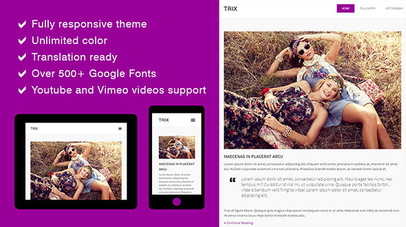 Trix – Responsive Blog WordPress Theme