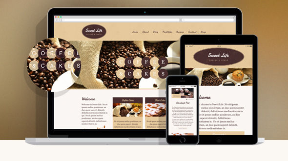 Sweet Life – Café and Restaurant WP Theme