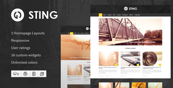 Sting – Responsive WordPress Magazine Theme
