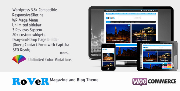 RoVeR – Magazine/Blog WordPress Theme